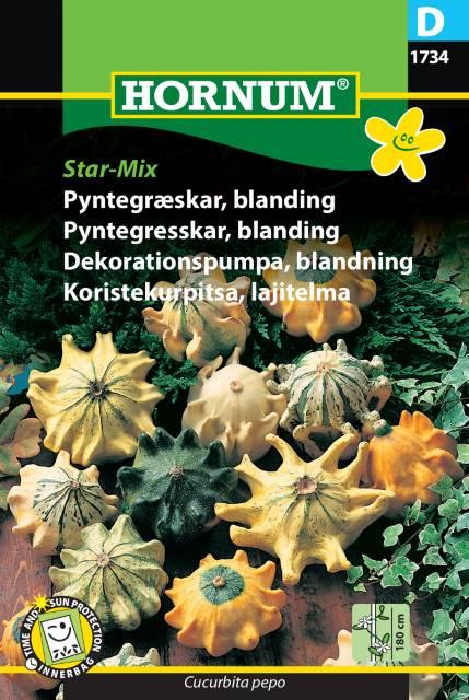 Dekorationspumpa mix - Star mix