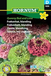 Zinnia mix - Queeny Red & Lime