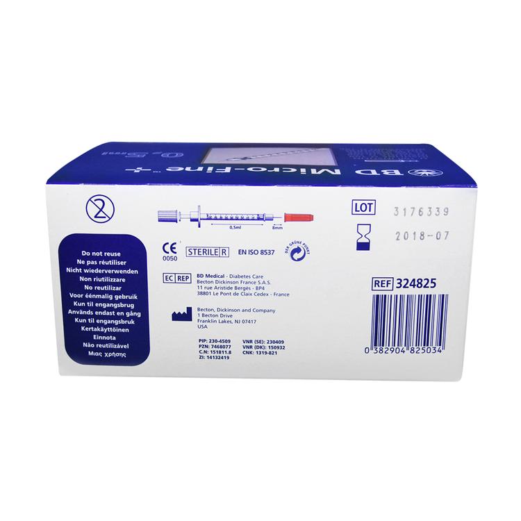 BD Micro-Fine+100st. Insulinspruta-0,5mm