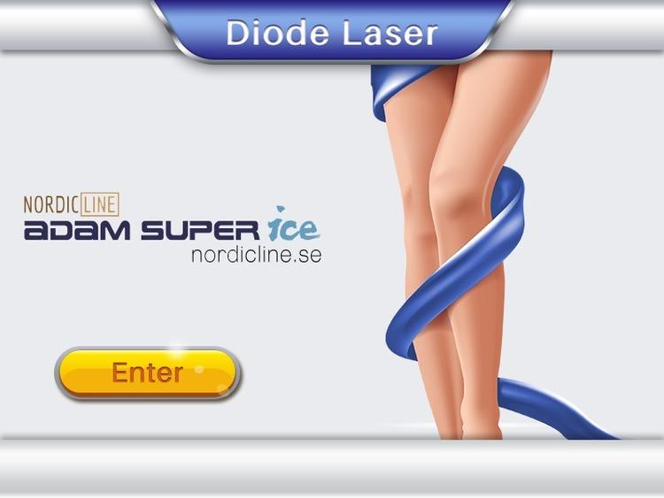 ADAM SUPER ICE DIOD LASER 1200W Super Snabb (dubbla handtag)