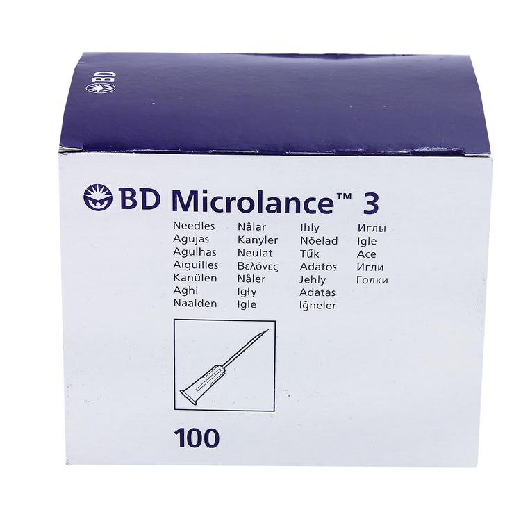 Microlance 3 23G 100 st Blå
