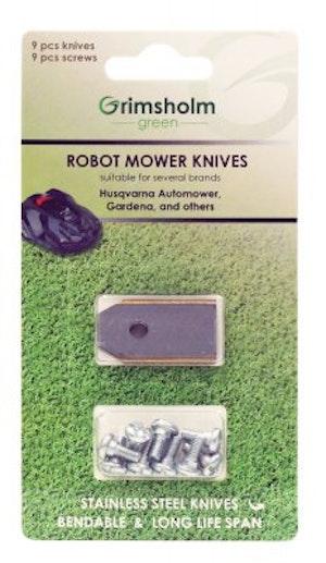Robotgräsklipparknivar 9 delar, Huskvarna, Automower, Clipper mfl