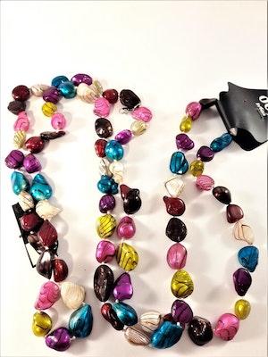 Långt Halsband med Pärlor Multifärg