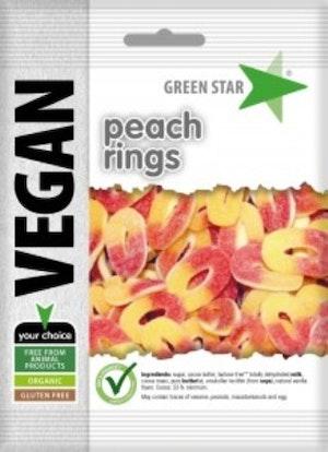 Green Star persikoringar vegan glutenfri 80 g
