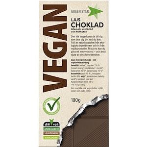 Green star chokladkaka ljus Vegan Ekologisk Glutenfri 100g