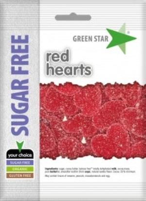 Green Star sockerfri glutenfri röda hjärtan 80 g