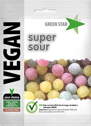 Green Star Super sour vegan glutenfri 80 g