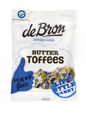 De Bron Butter Toffees Sockerfri 100g