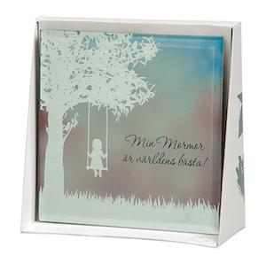 Spegeltavla, Silver Silhouette - Min Mormor är världens bästa!