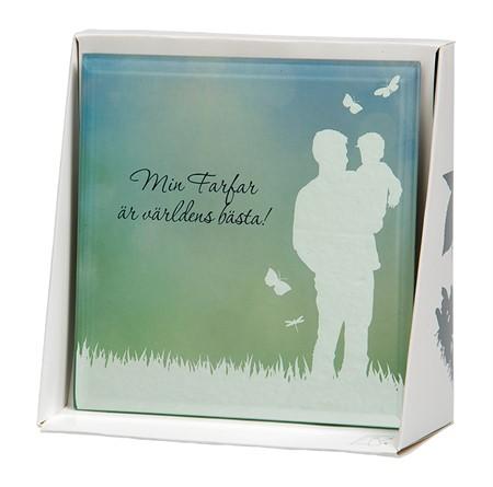 Spegeltavla, Silver Silhouette - Min Farfar är världens bästa!