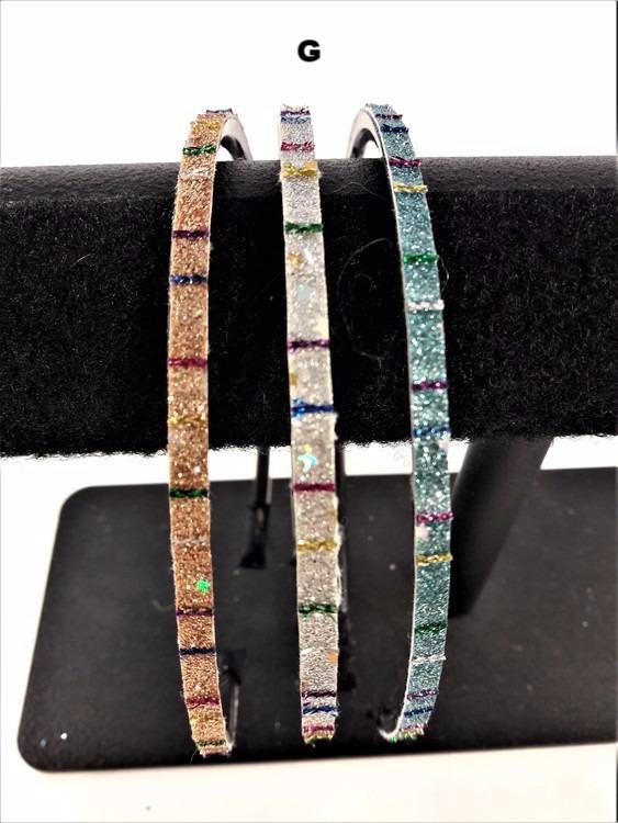 Smalt diadem 5-pack, bredd 5-7 mm, glittrigt