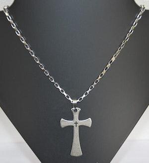 Halsband med Kors Metall