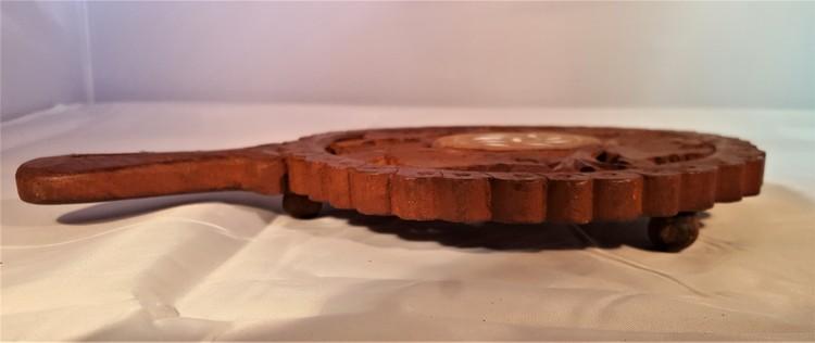 Underlägg i snidat trä med handtag, handgjort, 3 storlekar, x1