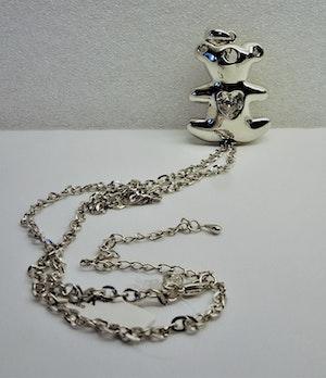 Halsband med Hänge av Tous Nalle, Rhodium och Sten