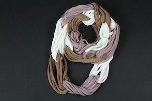Scarf brun-vit-lila