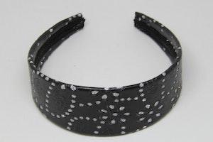 Diadem i svart med glittermönster