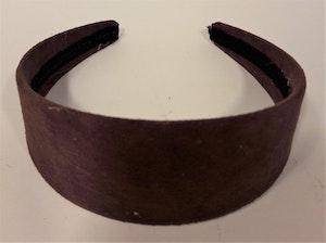 Diadem i brun mocka
