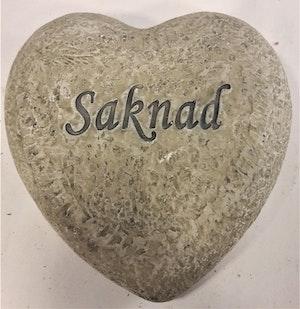 """Hjärta med text """"Saknad"""""""