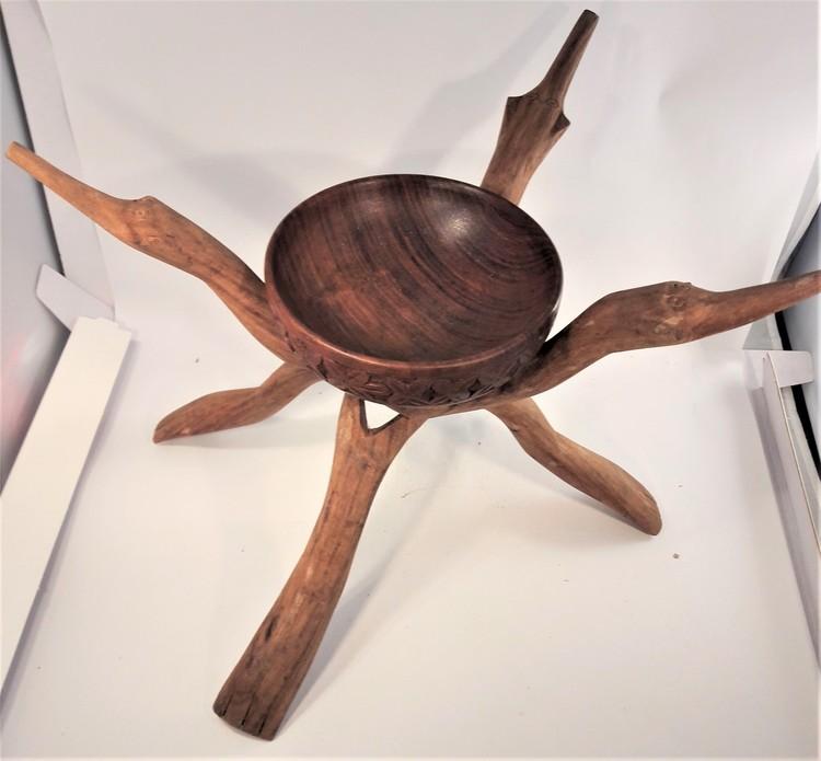 Stöd för t.ex. skål snidat trä, x1