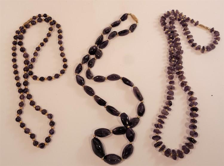 Halsband av lila Ametist, 3 olika att välja på, x1