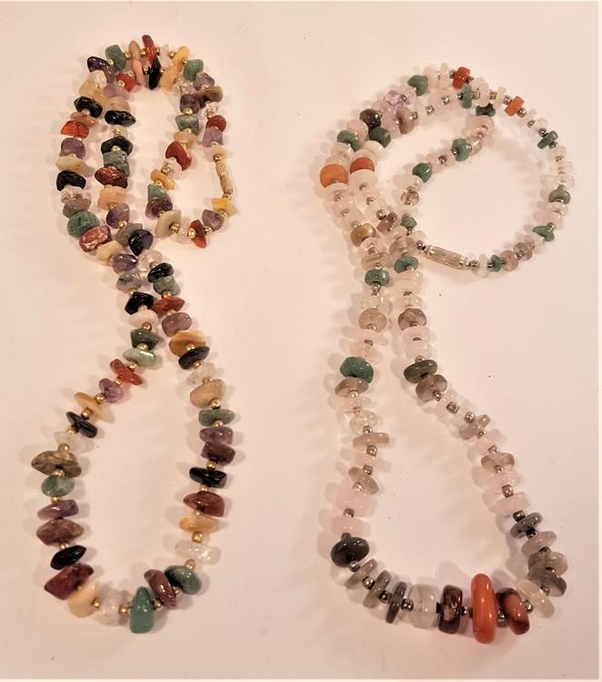 Halsband med mixade stenar, 2 olika att välja mellan, x1