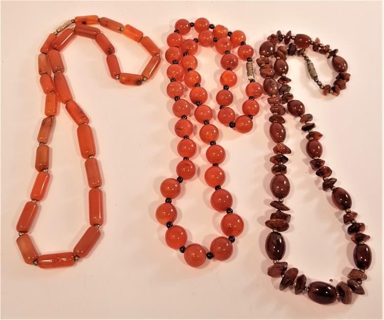 Halsband av Karneol, 3 olika att välja på, x1