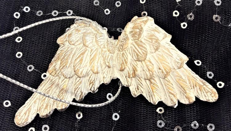 Vita änglavingar att hänga