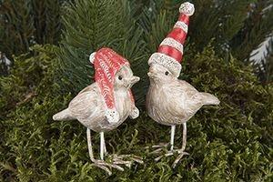 Söt julfågel med luva för dekoration, x1