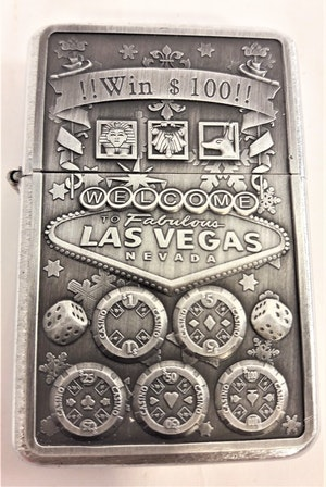 Las Vegas Gambling - Bensintändare, motiv 5 ringar