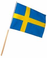 Svenska flaggan på pinne