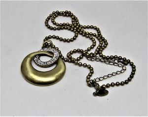 Halsband med Mässing och Strass