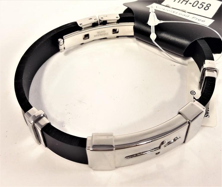 Armband Läder och Rostfritt Stål