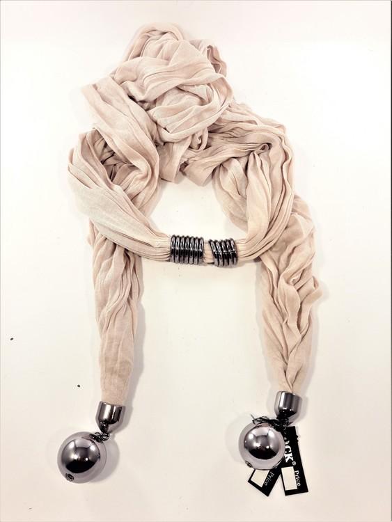 Häftig scarf, beige