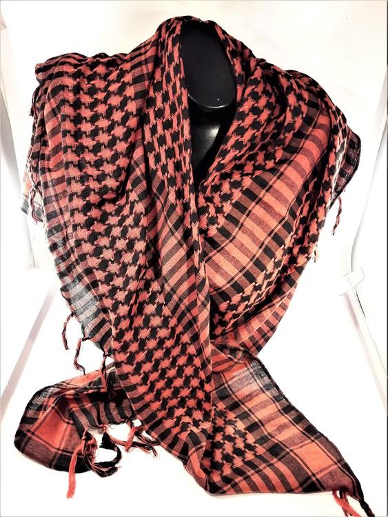 Mörkrosa-svart rutig scarf