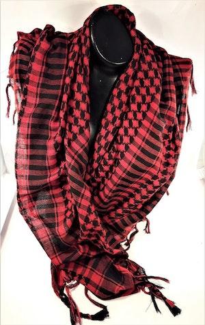 Röd-svart rutig scarf