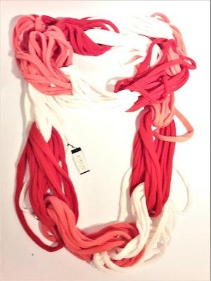 Scarf röd-vit-rosa