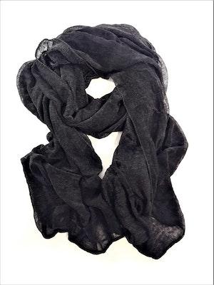 Svart enkel scarf