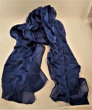 Blå silkescarf