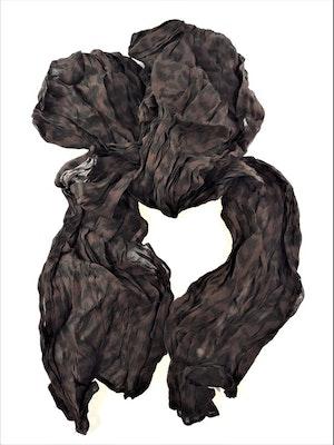Snygg mörkbrun mönstrad scarf