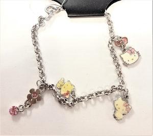 Armband med Hello Kittymotiv, 4, berlocker