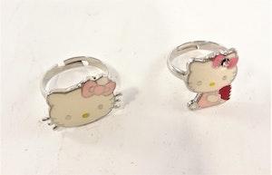 Ring med Hello Kittymotiv, 2 varianter