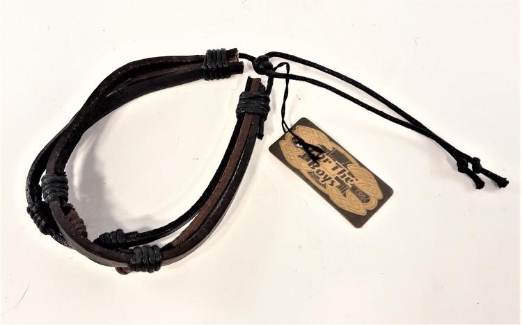 Justerbart Armband med Läderremmar Svart