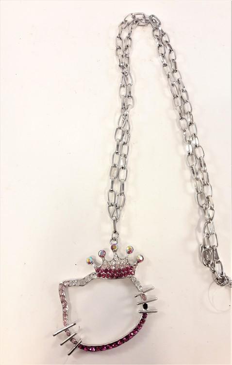 Halskedja med Hello Kittymotiv och strass