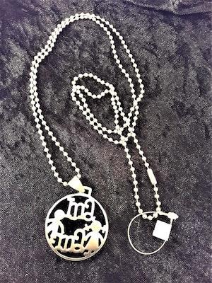 Halsband med Mama och Barn Motiv Silverfärg