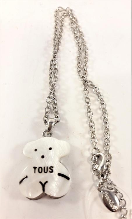 Halsband med Hänge av Tous Nalle Vit