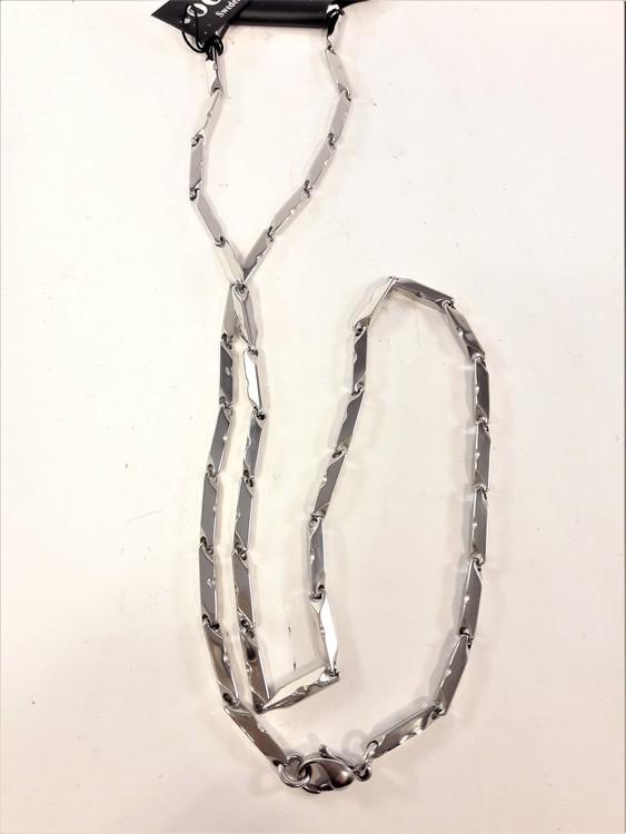 Halskedja med Länkar Silverfärg