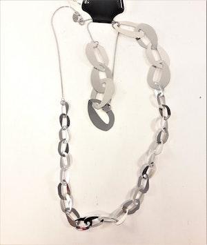 Halsband med Länkar Silverfärg