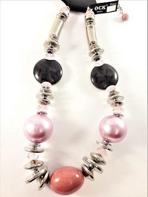 Halsband med stora lila och svarta detaljer
