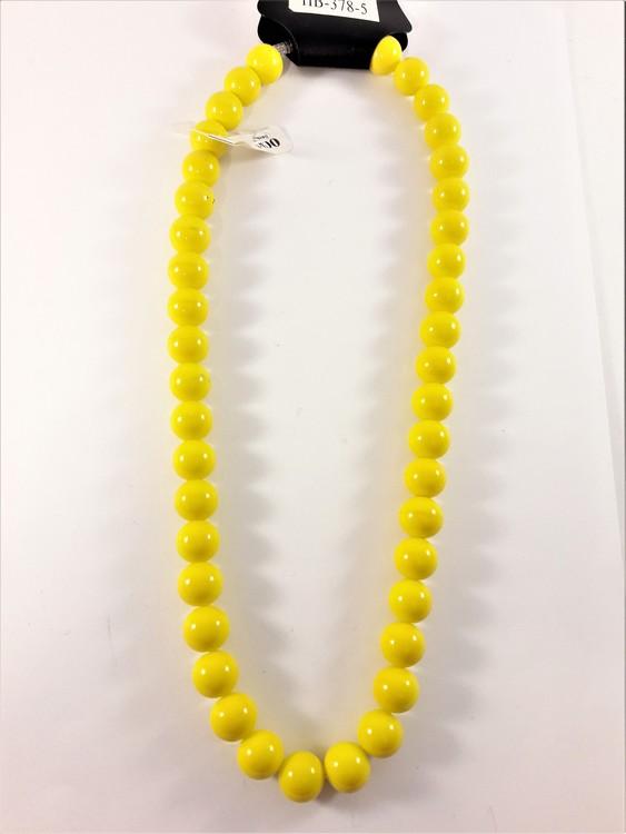 Halsband med kulor i gult