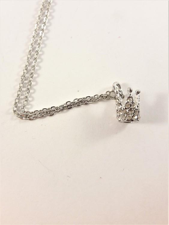 Halsband med liten prinsesskrona och strass